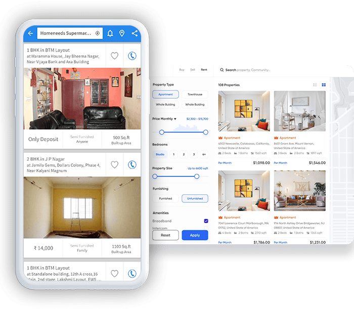Online Property Rental Portal With Mobile Apps