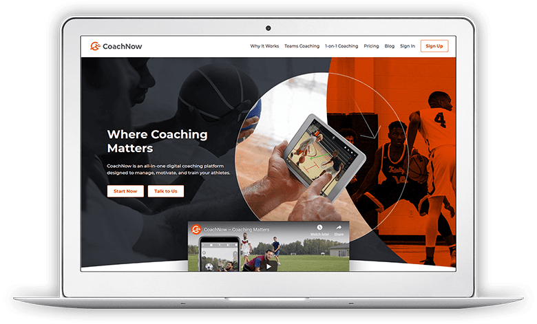 CoachNow Screen 1