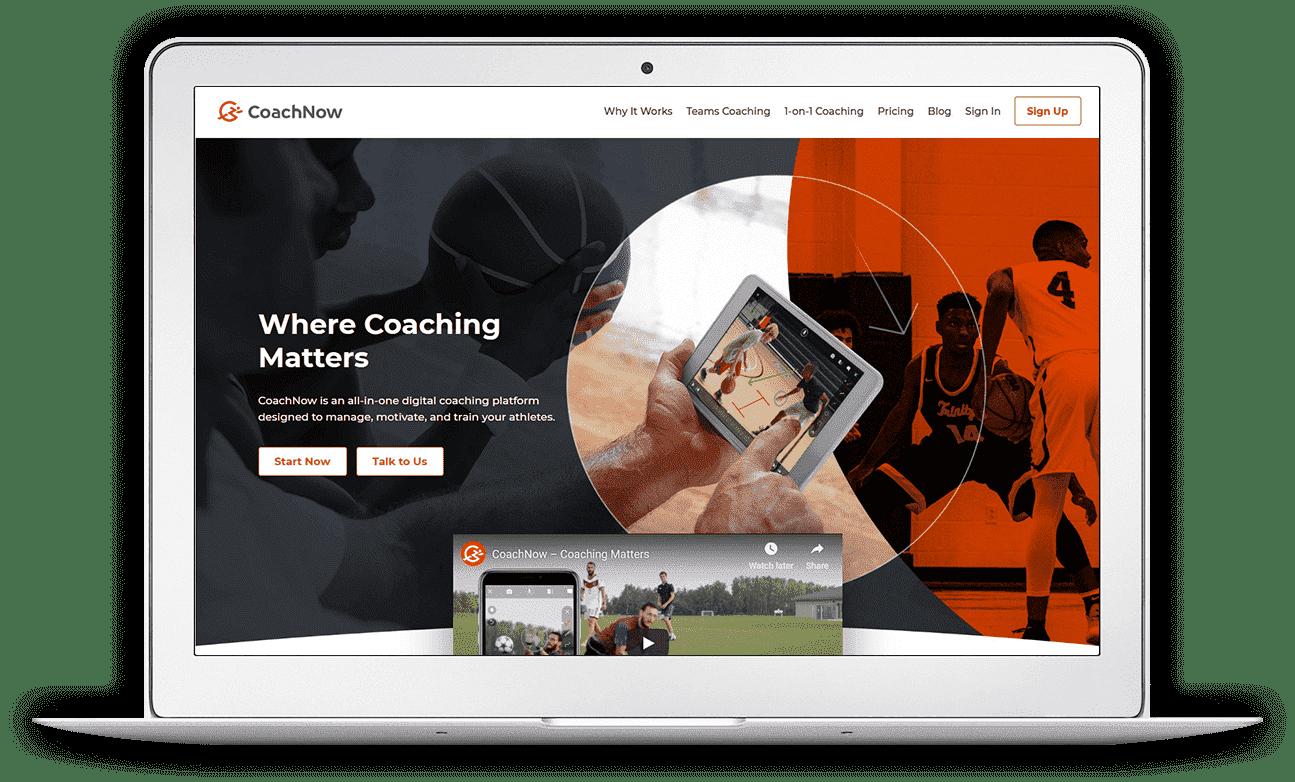 CoachNow Screen 1