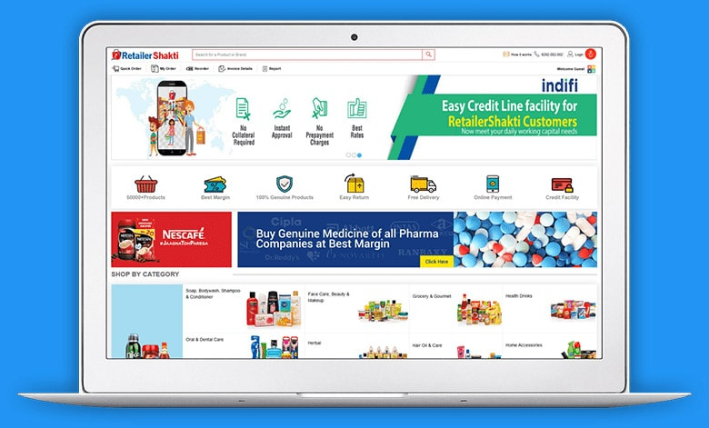 RetailerShakti Screen 1