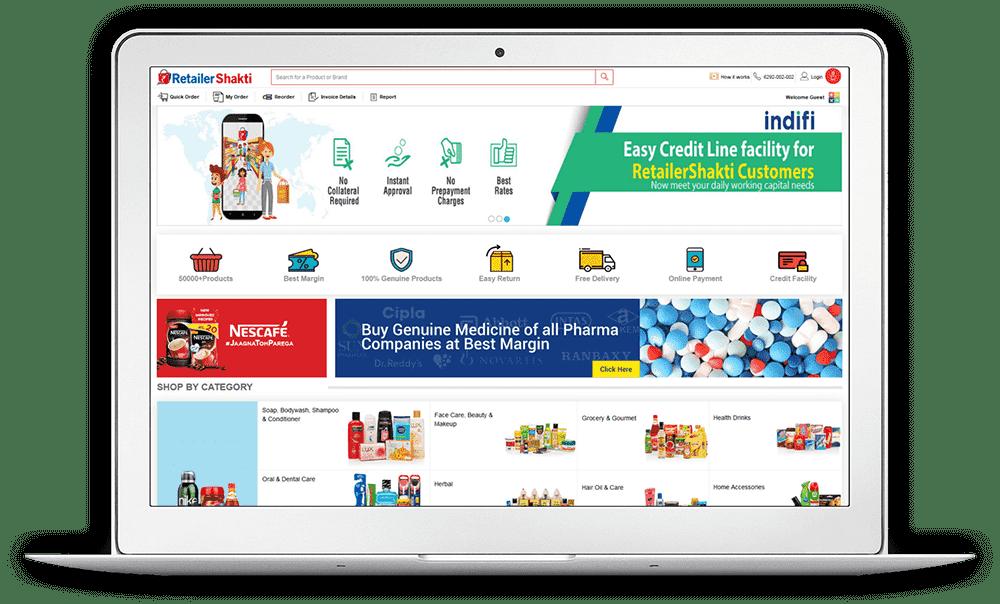 RetailerShakti Screen 1