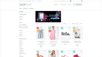 shopnine fashion web app