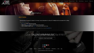 talent army music web app