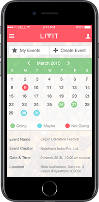 livit ios social event mobile app