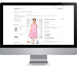 shopnine fashion web app