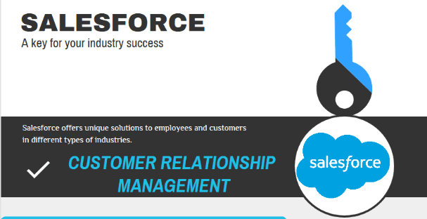 Infographic | Salesforce – A Key For Your Industry Solutions