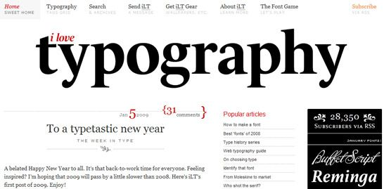 web design trends typography