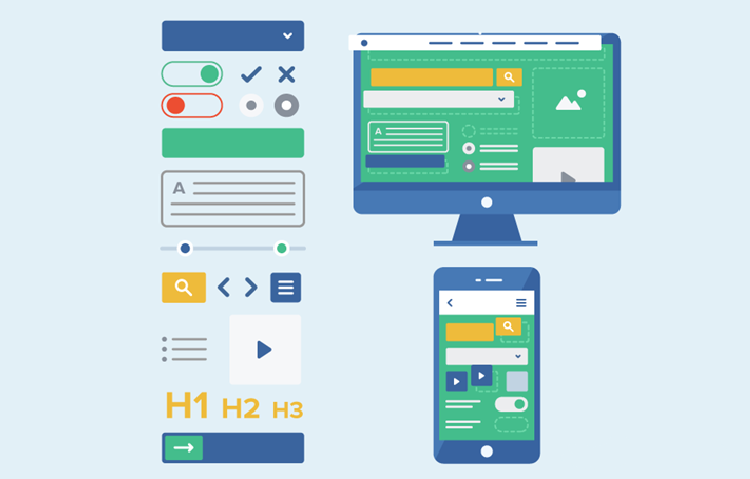 ui element design ux vs ui infographic