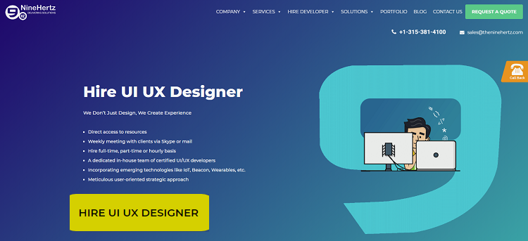 how to hire UI UX designer the ninehertz