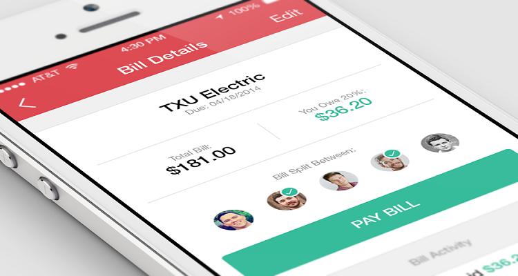 mobile wallet app split bill
