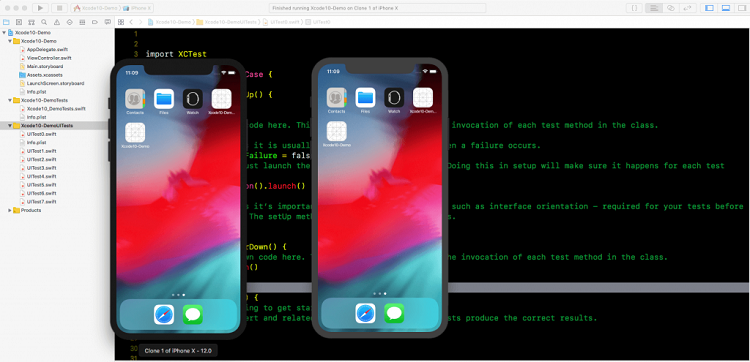 parallel testing xcode 10