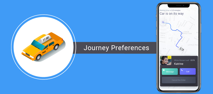 journey-preferences-taxi app