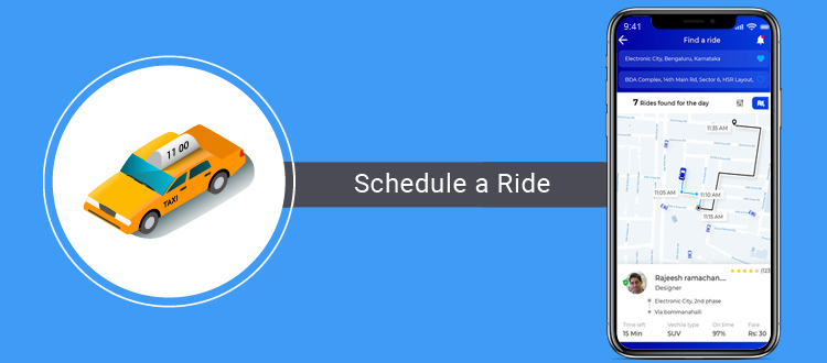 schedule-a-ride taxi app