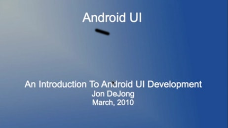 Intro to Android UI Development