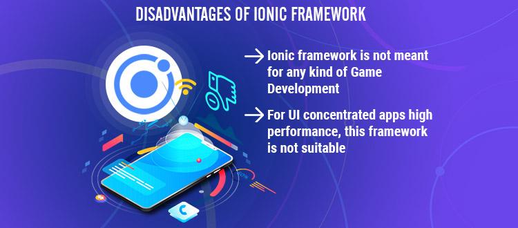 disadvantage of ionic development