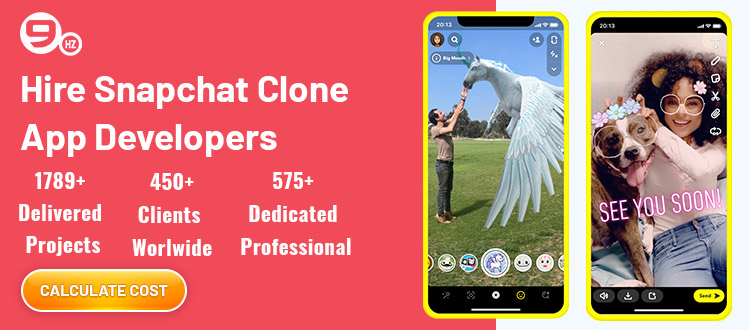 hire snapchat clone app developer
