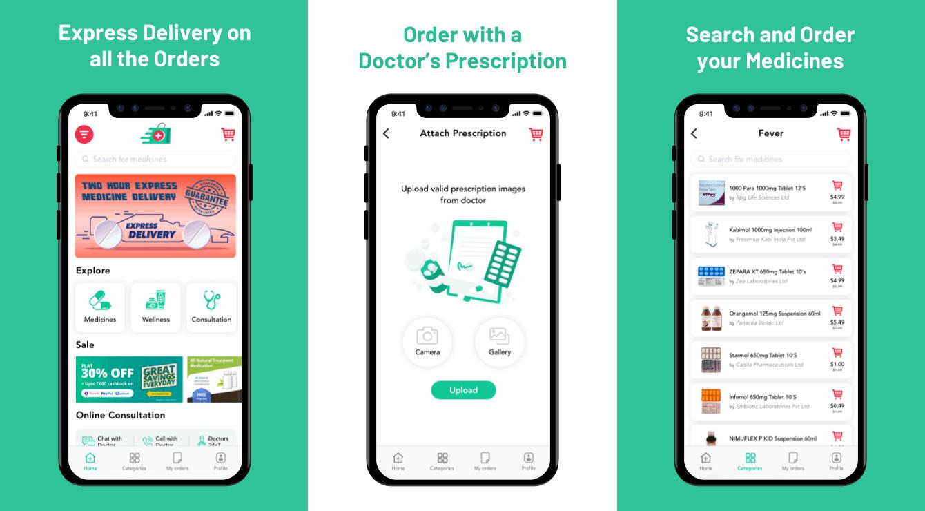 online medicine delivery app