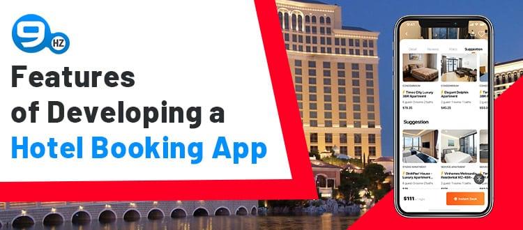 hotel listing app development features