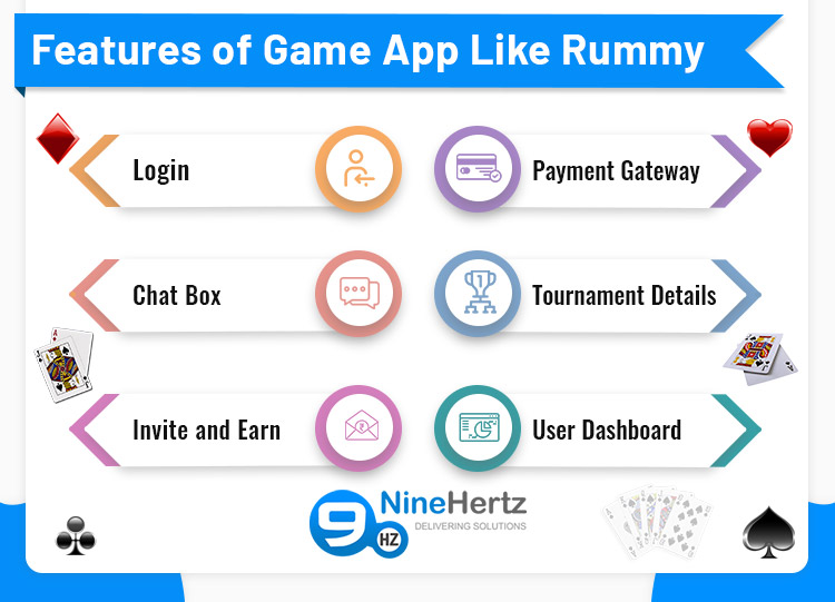 rummy game development features