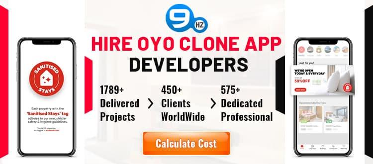 oyo room app clone development