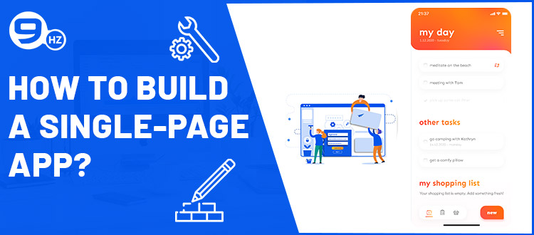 how to develop single page application