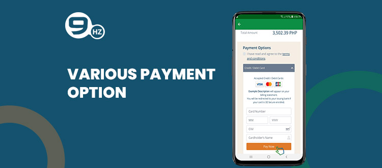 payment option in doctor appointment app